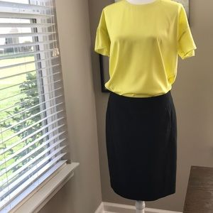 Joe Fresh Yellow Blouse and Loft Skirt w/ Pockets!
